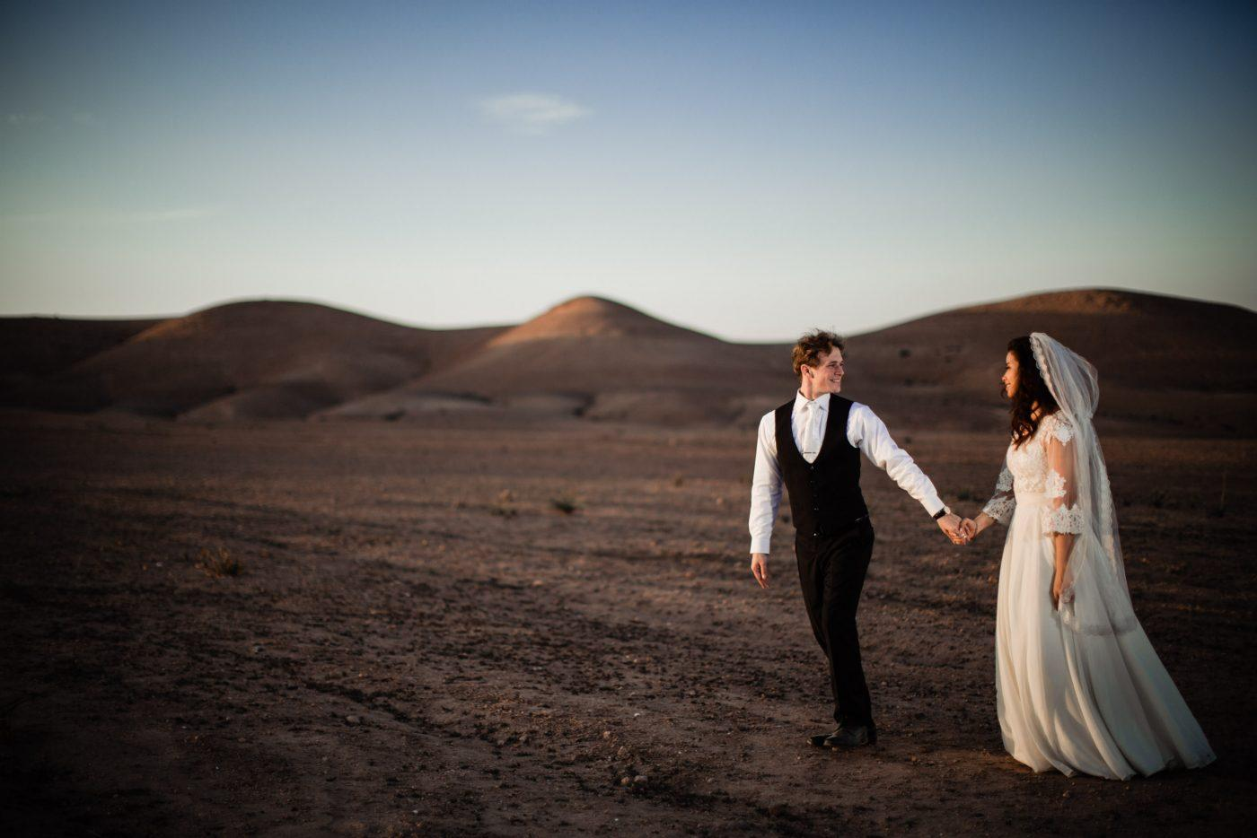 Beautiful Destination Wedding photography in Agafay Desert marrakech.