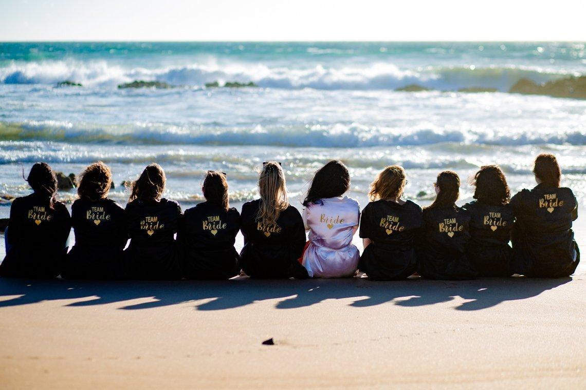 Bridesmaid Beach photoshoot ideas from wedding photographer in Agadir