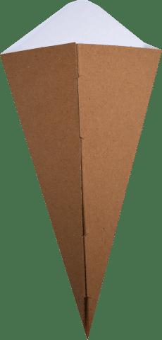 Con Fast-Food Natur 16x27 cm din carton