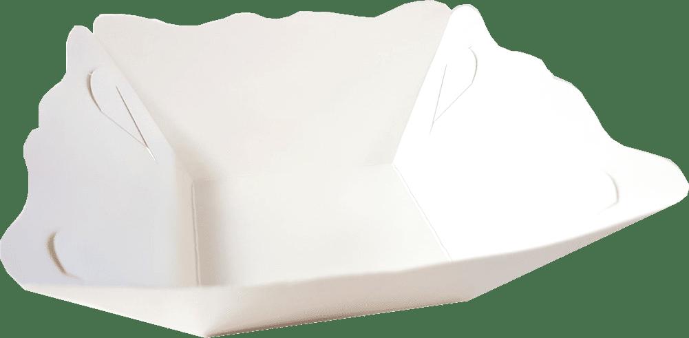Tavite Hamburger (mici) (8x8 )x(15x15)x6 cm cm Albe