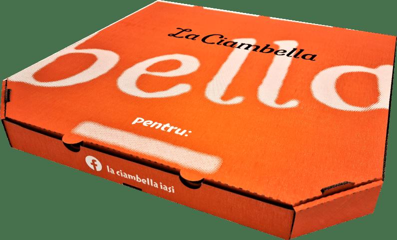 Cutii Pizza D32 personalizate cu fundal