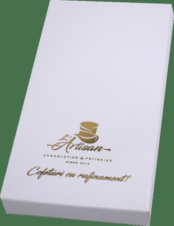Cutii Tablete Ciocolata Albe 8x15x1.5 cm Personalizate Folio