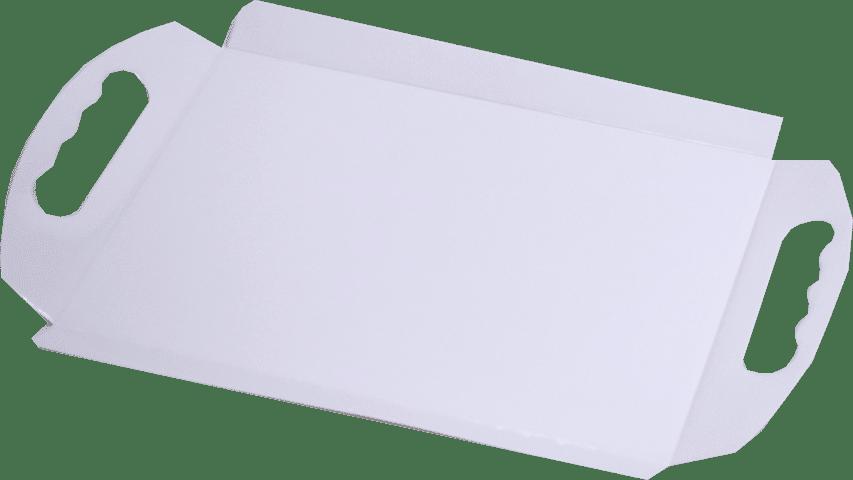 Tavi albe cu maner 23x33x2.5 cm