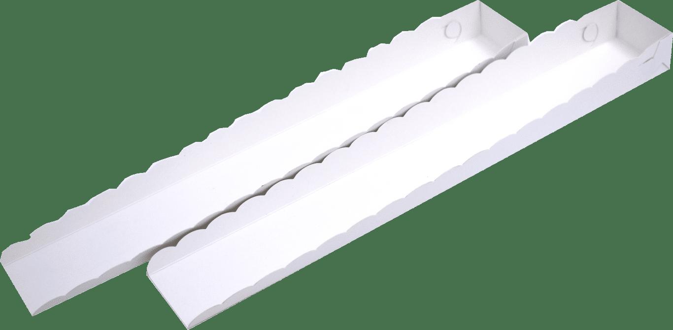 Tavite Clatite Albe 35x5x3 cm
