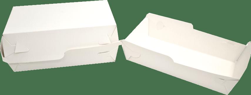 Tavite Fast-Food Albe (Cutie - Corp+Capac) 18x10x5x(8) cm