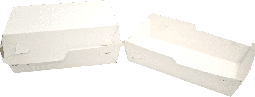 Tavite Fast-Food Albe (Cutie - Corp+Capac) 13.5x9x5x(8) cm