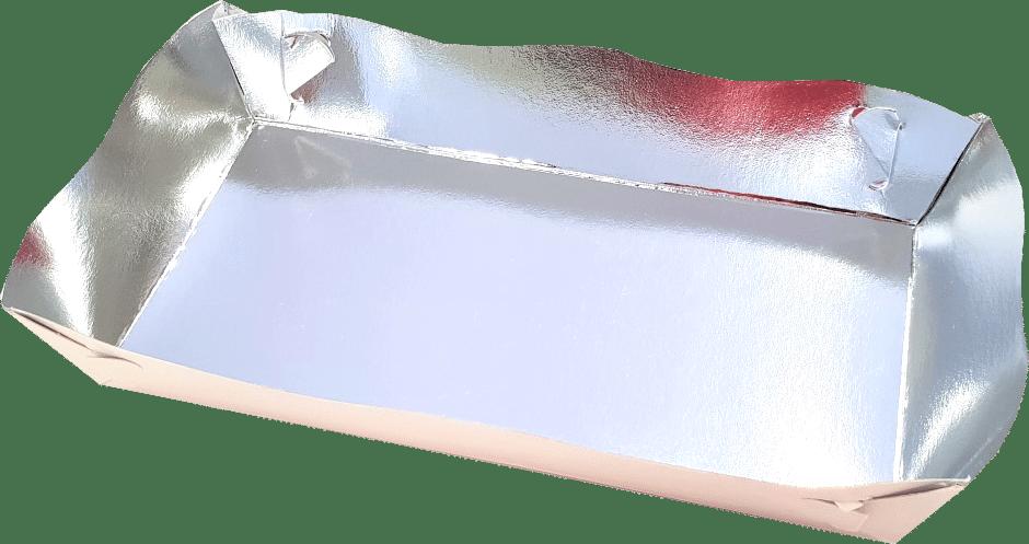 Tavite fast-food Argintii (baza mica -8x16 / baza mare 11x19 cm) x 2.5 cm