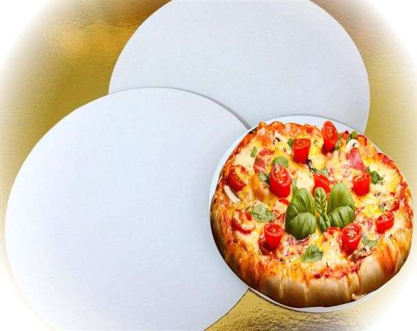 Discuri Pizza D30 cm (carton microondulat alb gros)