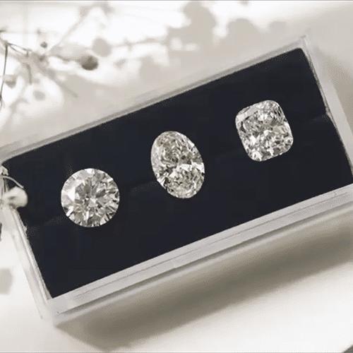 Different shape diamonds comparison