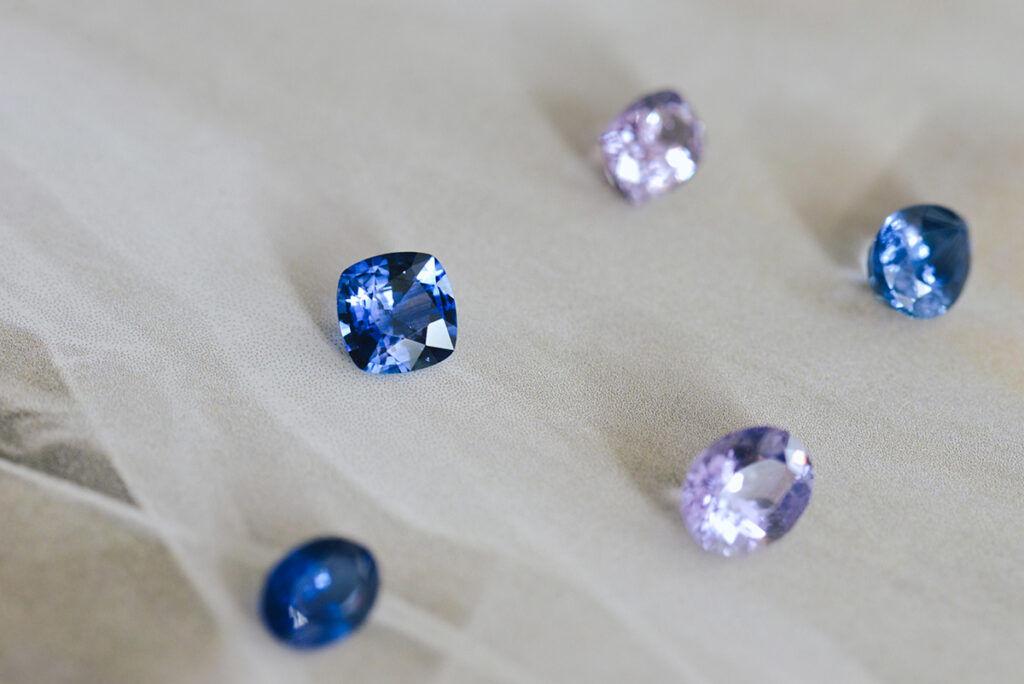 Natural blue sapphires