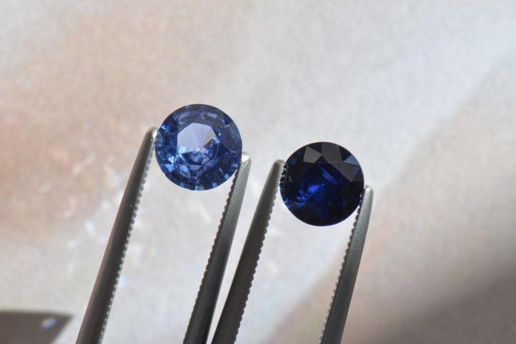 blue sapphire color comparison