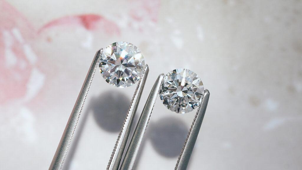 moissanite vs diamond comparison