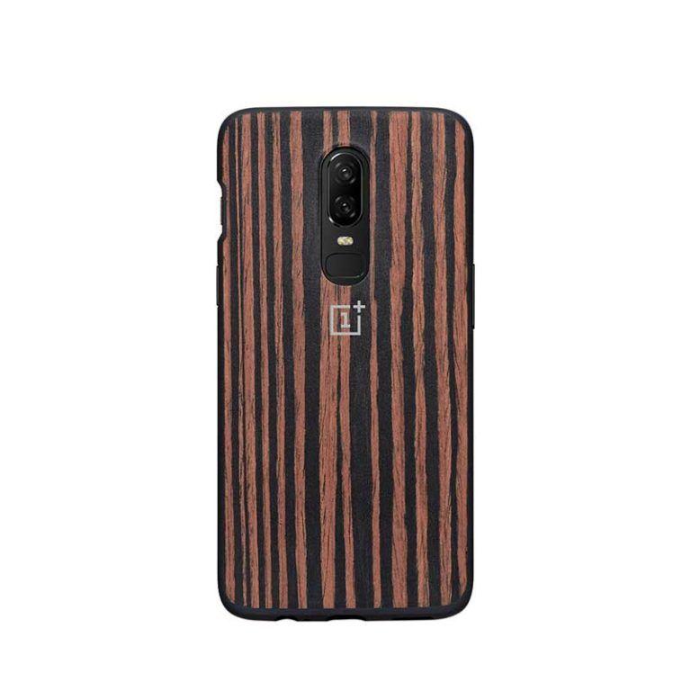 OnePlus 6 Ebony Wood Bumper Case