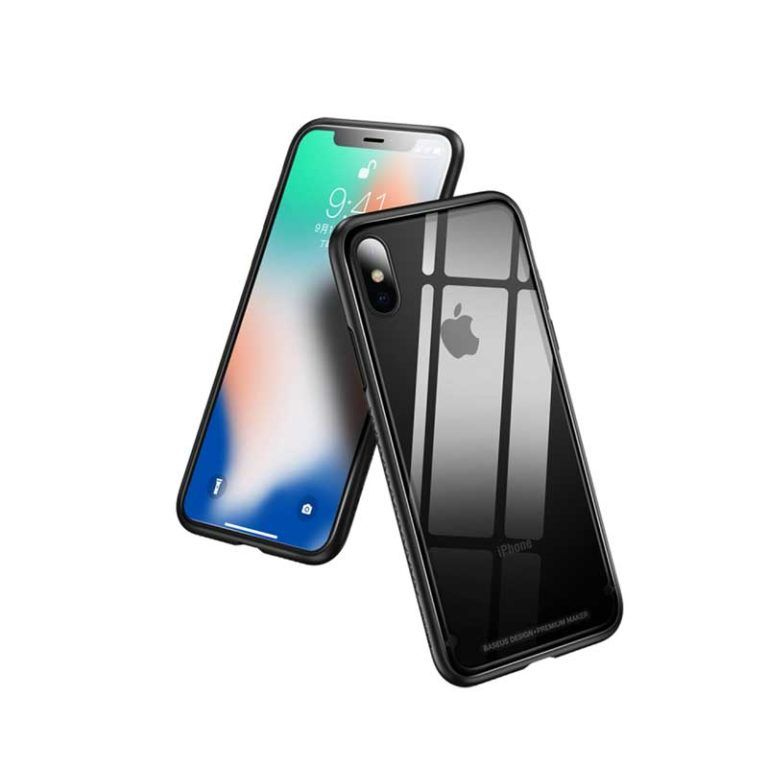 Baseus iPhone XS Max See-through Glass Protective Case