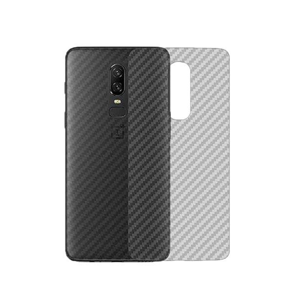 Oneplus 6 Carbon Fiber Textured Back Screen Sticker