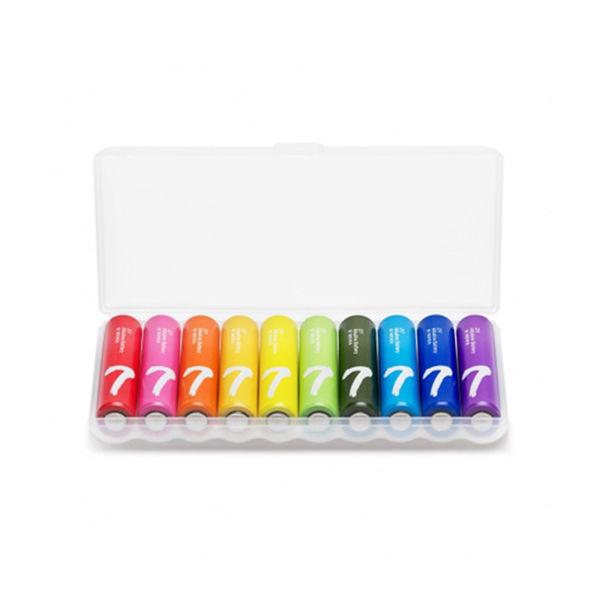 Xiaomi AAA Rainbow Colorful Alkaline Battery (10pcs)