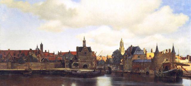 Vermeer view of delft uitsnede