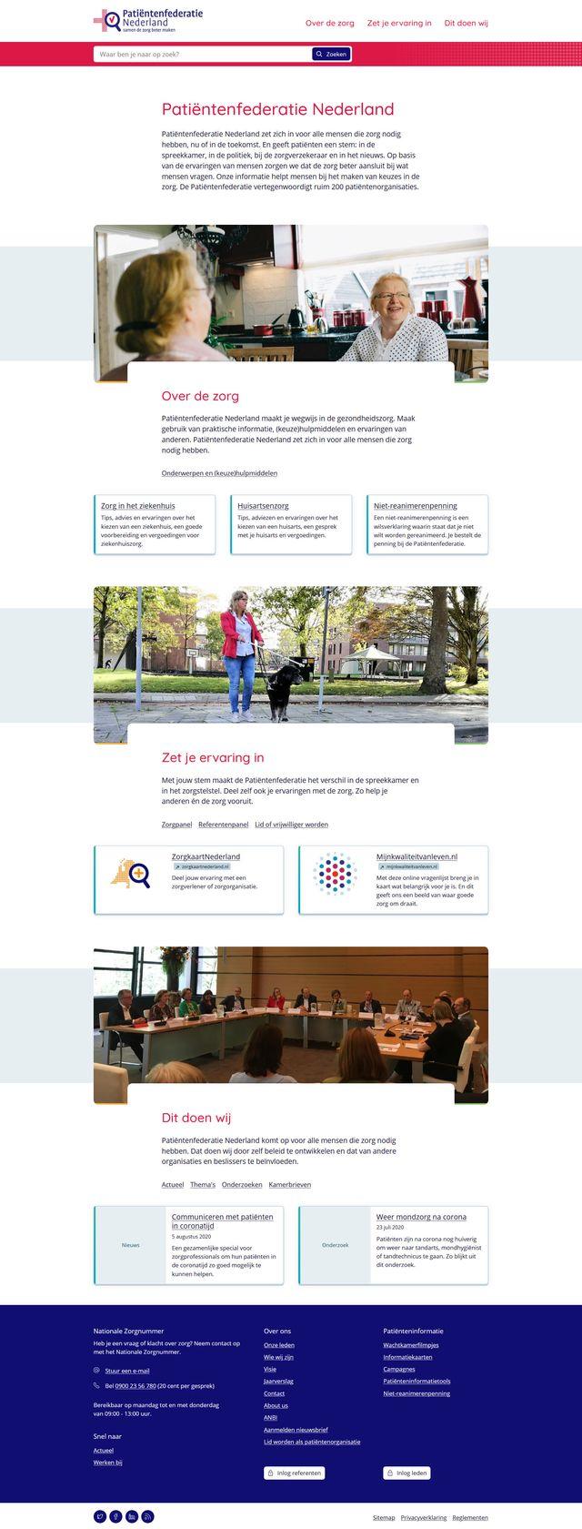 Screenshot 2020 08 07 Patiëntenfederatie Nederland