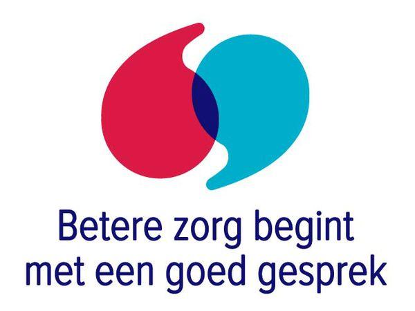 Logo betere zorg begint met een goed gesprek