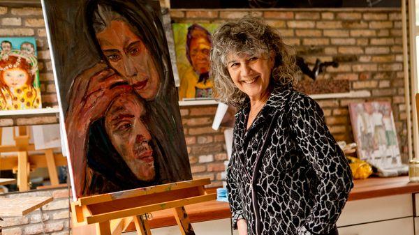 Dame voor schilderspalet