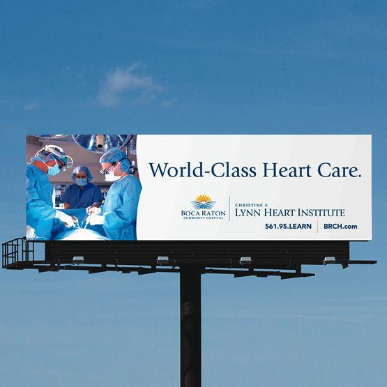 boca raton community hospital billboard