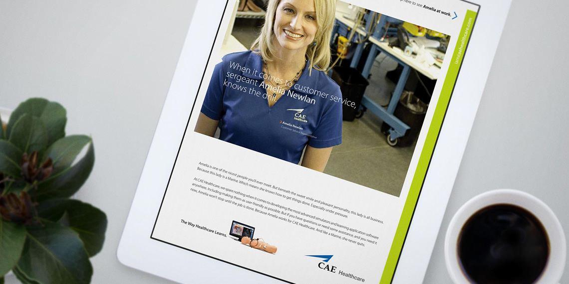 digital healthcare advertisement for cae