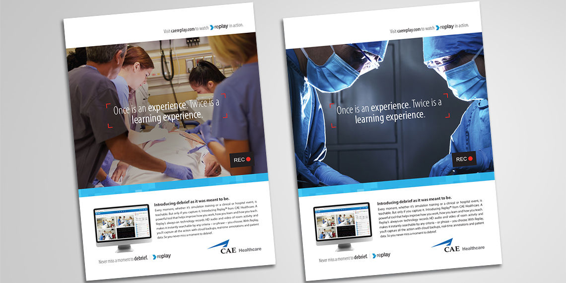print advertisements for cae healthcare