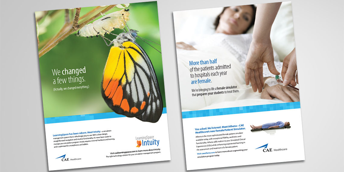 printed healthcare advertisements for cae
