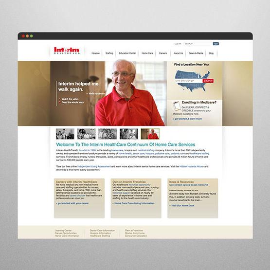 interim healthcare web design