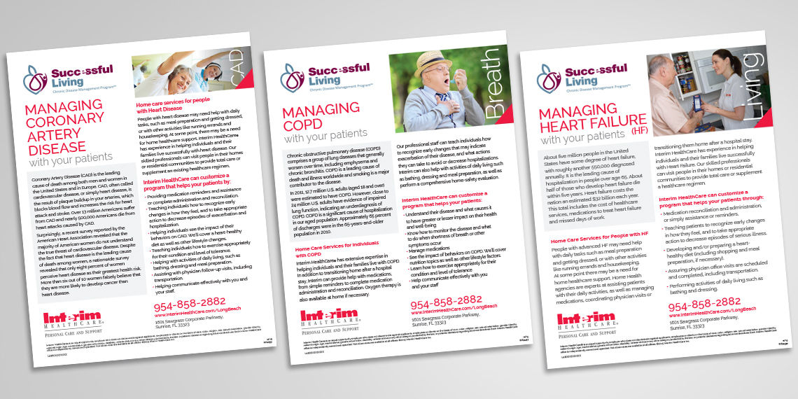 interim healthcare branded information sheets