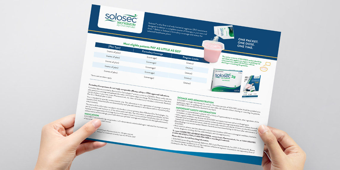 solosec prescription pharmaceutical information sheet