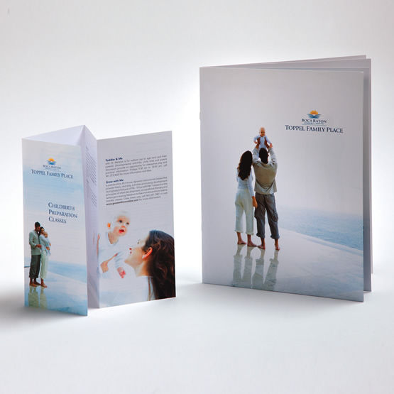 boca raton community hospital brand material and brochure