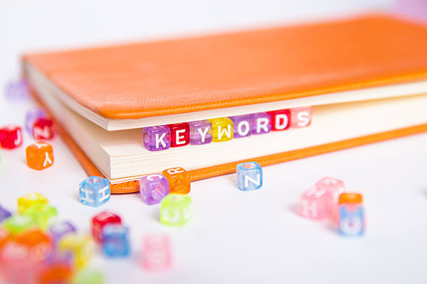 Book with dice in it spelling keyword