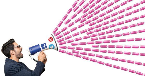 Social Media icon megaphone