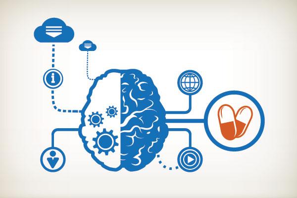 E-patient Brain & Information Source Icons