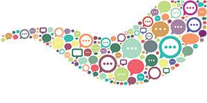 Conversation Icon Collage River