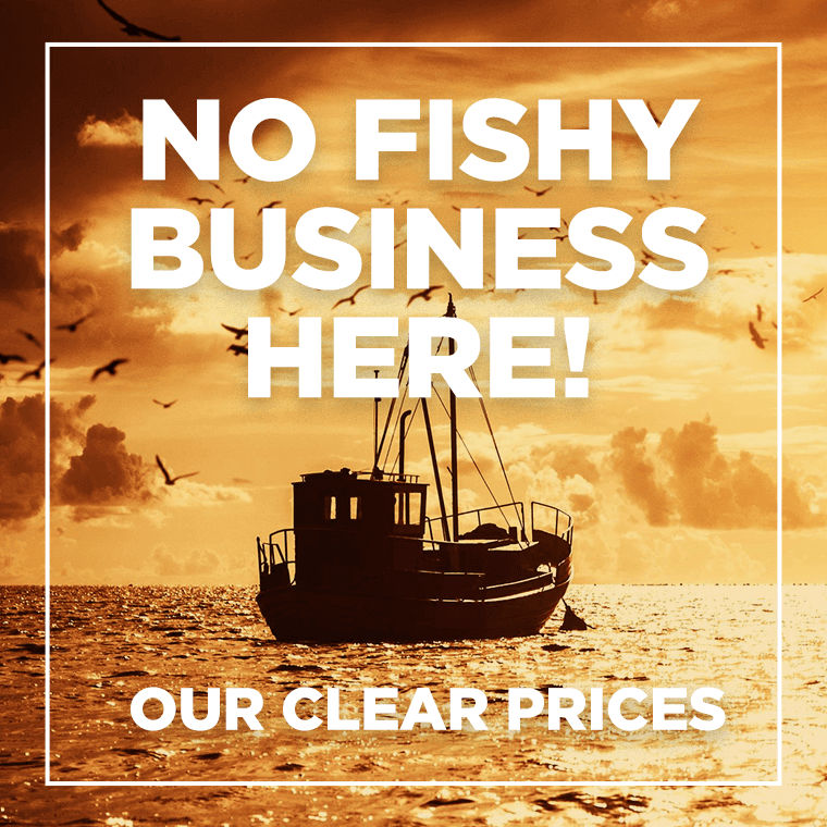 no fishy business here - clear prices
