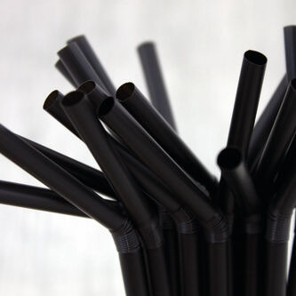 Robinson Young - Caterpack Enviro Black Compostable Flexible Straws