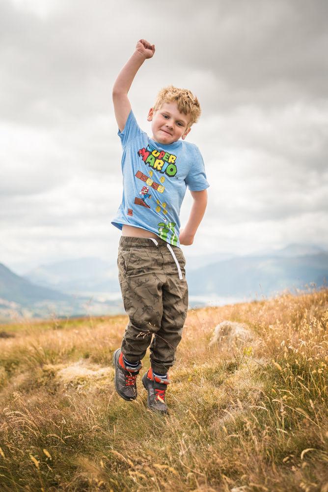 Stan jumping on Binsey, Lake District photographers