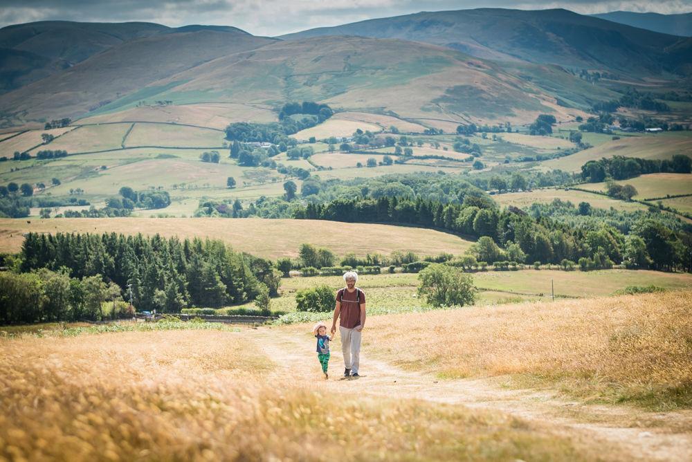 Paul and Albert walking up Binsey, Lake District photographers