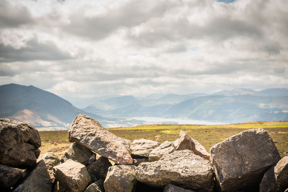 Views from the cairn, Binsey, Lake District photographers