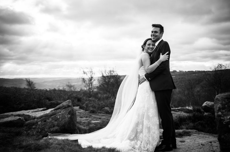 Peak District wedding couple in the Autumn