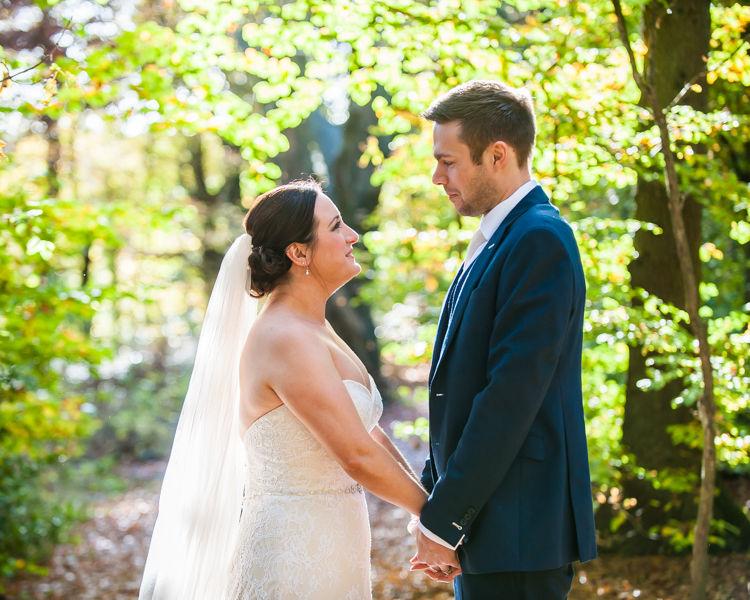 Sheffield woodland wedding photo session