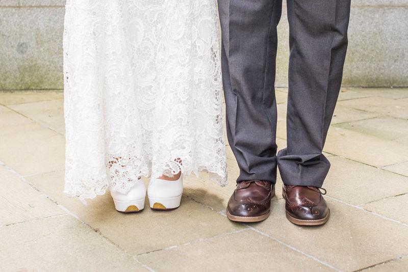 Bride & groom's shoes in Sheffield