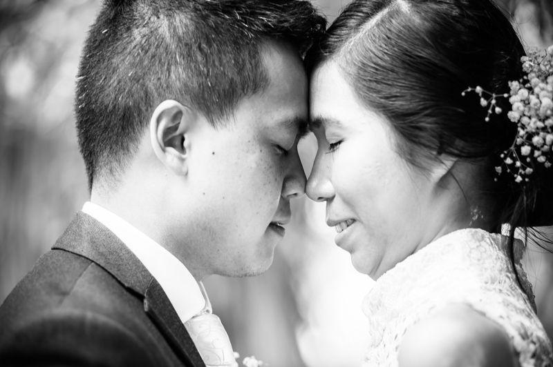 Eskimo kisses for Sheffield wedding