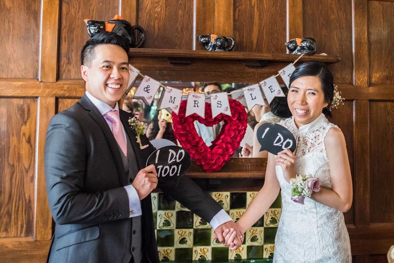 Wedding reception details in Sheffield