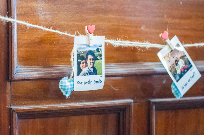 Wedding details in reception at Mamas and Leonies