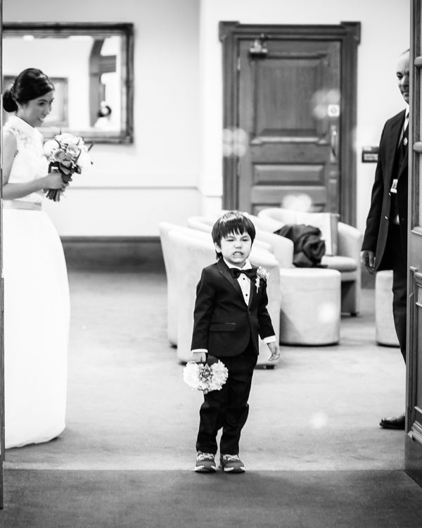 Cheeky page boy - Sheffield Town Hall wedding