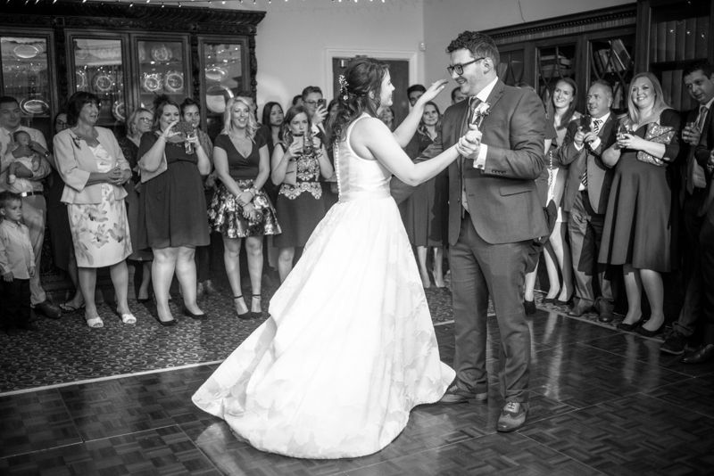 Steve & Helen's first dance at Halifax Hall in Sheffield