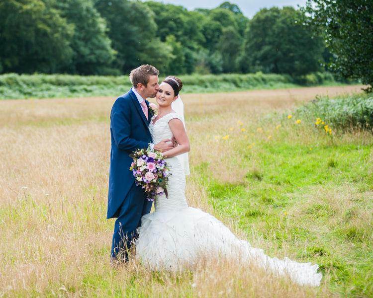 Hazel Gap Barn grounds wedding portraits